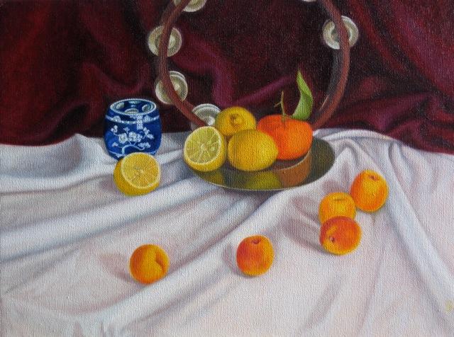 Tambourine & apricots