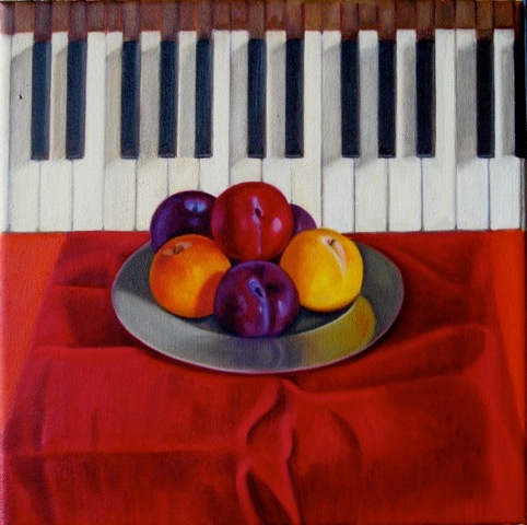 Plums & piano keys