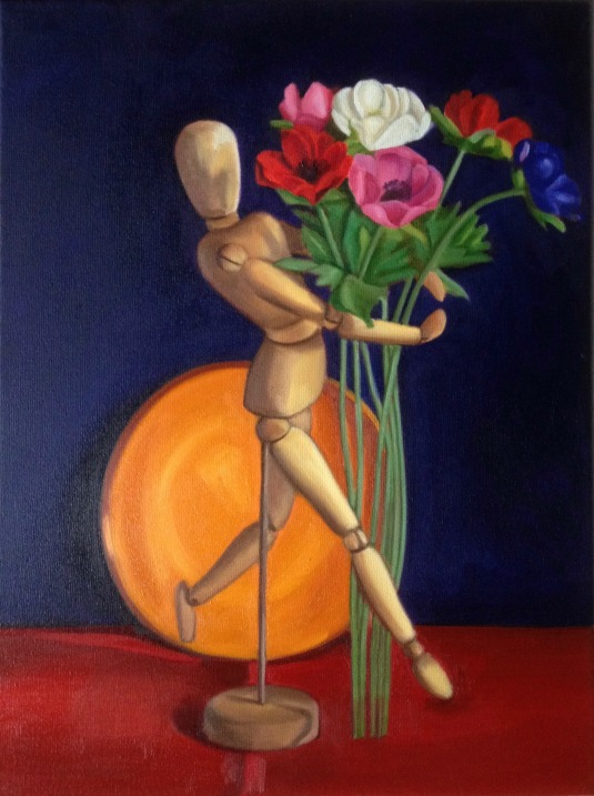 Mannequin and flowers