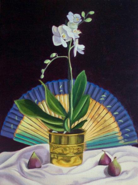 White Orchid, Fan & Figs