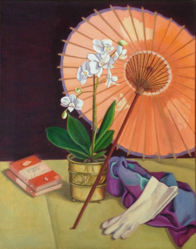 White Orchid and Parasol