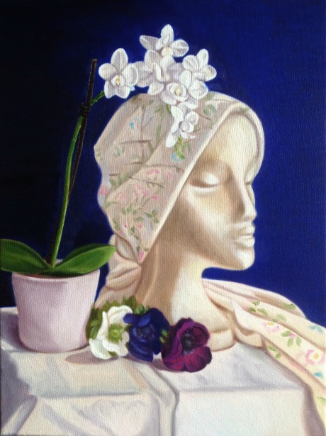 White orchid and head2